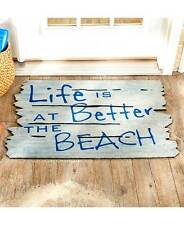 Coastal At The Shore Door Mat Better At The Beach Entry Rug Nonskid Home Decor