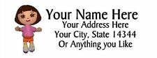 "30pcs Personalized Dora Return/Mailing Address labels 1""x2.625"" Free S/H"