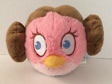2012 Lucas Film Ltd Star Wars Pink Princess Leia Angry Birds Round Plush Toy