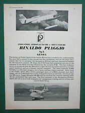 6/1966 PUB PIAGGIO DOUGLAS PD-808 P166 AIRCRAFT / GOOD YEAR TYRES ORIGINAL AD