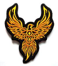 Beautiful Yellow Phoenix Tattoo Biker Embroidered Iron on Patch Free Shipping