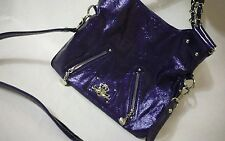Kathy Van Zeeland Metallic Purple Shoulder Bag Handbag Tote Purse