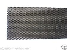 Perforated security door mesh