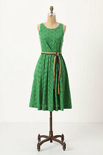 NIP Anthropologie Grass Court Dress by Moulinette Soeurs 100% Cotton Size 2
