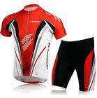 Mens Bike Cycling Bicycle Short Sleeve Jersey Shirt Shorts Suit Outdoor Sports