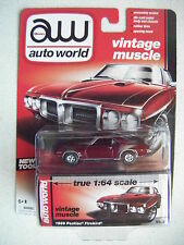 AUTO WORLD TRUE 1:64 SCALE #3B 1969 PONTIAC FIREBIRD (DK RED)