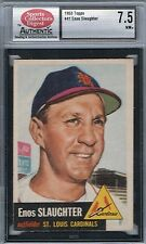 1953 Topps ENOS SLAUGHTER # 41 (SCD 7.5 NM+) MLB Hall of Fame (434
