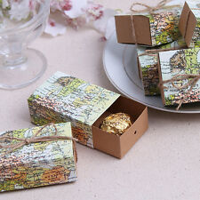 100pc Originality Vintage Wedding Sweet Cake Gifts Candy Favour Boxes Bags Party