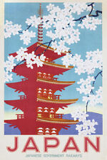 Japan Railways Poster Japanese Retro Vintage Print Wall Art Large Maxi