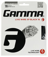 Gamma Live Wire XP 1.32 mm 16 Tennis Stringhe Set