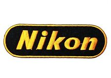 Nikon Logo Digital Camera Sew Iron on Patch Embroidered Case Bag Shirt Jeans Cap