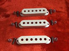 1972 Vintage Fullerton Fender USA Strat Stratocaster White Pickup Covers 72