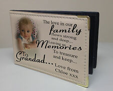 Personalised photo album, memory book, birthday christmas gift, family Grandad