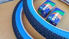 "20x2.25 BMX Bike Tires Street Dirt Digger w/Tubes Bicycle 20"" Black/Blue Wall"