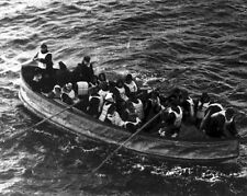 New 8x10 Photo: Survivors of the RMS TITANIC Sinking in Collapsible Lifeboat