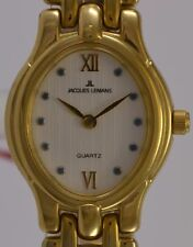 JACQUES LEMANS Damenuhr / Quarz / 10 Mic Gold Plated