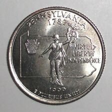 1999 US Quarter, 25 cents; Pennsylvania, Commonwealth Statue, coin