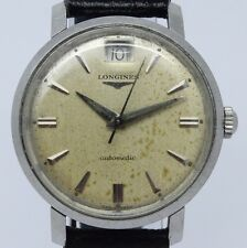 VINTAGE Longines 35mm Steel Mens Automatic Watch Original Date @ 12 cal.291