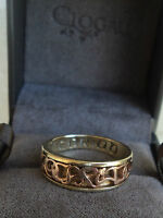 Clogau Welsh 9ct Rose & Yellow Gold Cariad Ring  -  size M