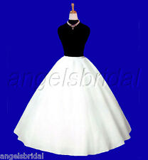SUPER FULL A-LINE HOOPLESS BRIDAL WEDDING GOWN PETTICOAT CRINOLINE SKIRT SLIP