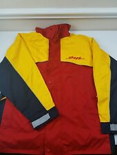 DHL Employee Delivery Driver Jacket Coat with Hood Size XXL Yellow Red Vetements