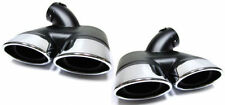 AMG STYLE SPORT EXHAUST PIPE TRIMS FOR MERCEDES W211 E CLASS PETROL NICE GIFT TY