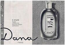 PUBLICITE ADVERTISING 044 1964 eau de Cologne Canoe de Dana