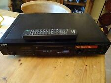 SONY MDS JE 530 MINIDISC RECORDER COMPLETE WITH REMOTE AND MANUAL VGC