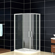 900x760mm Quadrant Shower Enclosure and Stone Tray Corner Cubicle Door Right