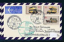 97201) LH FF Frankfurt - Bombay Indien 18.1.74, Karte Schiffspost Th.Heuss