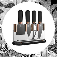 Brooklyn 4 Piece Cheese Knife Set - Block/Stand Taylors Eye Witness Copper Black