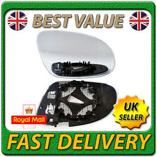 Right Driver Side Heated Electric Wing Mirror Glass for VW GOLF MK5 2003-2008