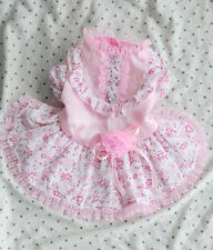 Lace Flower Princess Dog Dress Clothing For Dogs Pet Puppy Dog Clothes Pink M