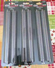 3 confezioni di binari rettilinei Kato art. 20-000 scala N lunghezza 248 mm
