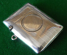 Antique Solid Silver Birmingham 1919 Vesta Case or Match Safe