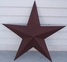 "36"" Burgundy Metal Barn Texas Star Rustic Tin Country Primitive Americana New"