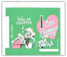 Affiche HARDY  CHIC BULL Lolo et sucette Cons d'homme vert 69ex signé 27x32