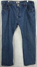 Levi's Mens Blue 501 Jeans / Pants Straight Led Button Fly - Size: 42x32