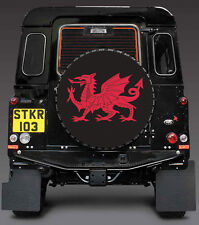 RED WELSH DRAGON- WALES CYMRU SPARE WHEEL COVER STICKER 4x4