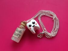 Tooth Fairy Necklace Handmade Glitter Gift Cute