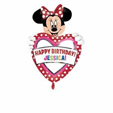 Minnie Mouse Personalised Birthday SuperShape Foil Balloon Decoration Supplies