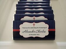Nautical Personalised Chocolate Christening Baptism Favour MUST ORDER 20 OR MORE