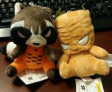 Set of 2 Guardians of The Galaxy Plush: Rocket and Groot