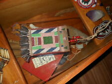 Northern Plains  Native American beaded antique medicine bag/ tobacco pouch