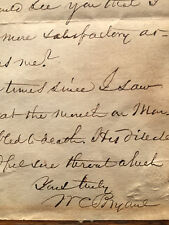 Autograph letter signed by WILLIAM CULLEN BRYANT editor poet journalist