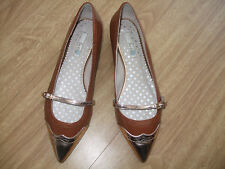 BODEN GOLD TIP LEATHER FLATS   SIZE 40==6.5 BNWOB