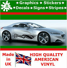 2 X Peugeot Vinyl Decal Sticker Car Van Set Stripes Graphic Sport Viper RACING 5