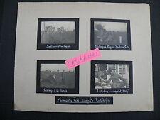 Seite eines Foto-Album: Jagd-Flieger Manfred von Richthofen an der Front im 1.WK