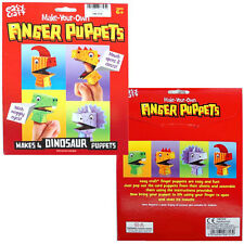 Make Your Own Dinosaur Finger Puppets - Brand New Children's Arts & Crafts