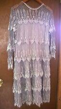 Vintage RINA DI MONTELLA Nieman-Marcus Drop skirt Silk Lace Dress Size 12